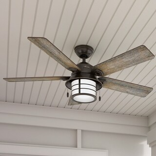 Hunter Key Biscayne 54-inch Onyx Fan