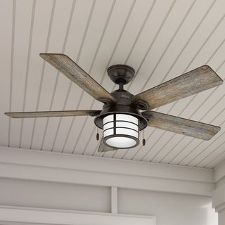 Hunter Key Biscayne 54 Inch Onyx Fan