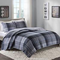Intelligent Design Mark Blue Reversible 3-piece Quilt Set