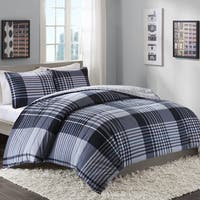 Intelligent Design Mark Blue Reversible 3-piece Duvet Cover Set