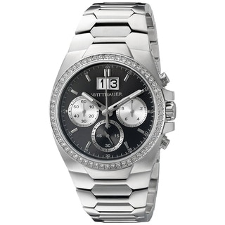 Wittnauer WN3049 Men's Crystal Enhanced Chronograph with a Gray Dial Watch - Silver