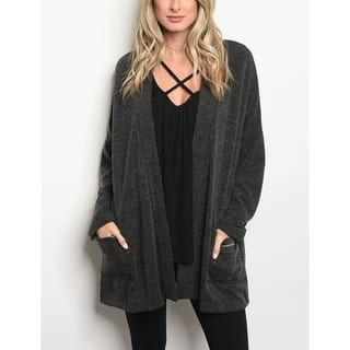JED Women's Long Sleeve Knit Cardigan with Pockets|https://ak1.ostkcdn.com/images/products/18090482/P24249138.jpg?impolicy=medium