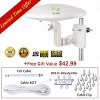 LAVA HD8000 360 Degree Omnidirectional HD TV 4K Omnidirectional TV Antenna Top Rated OmniPro HD-8008 + Installation Kit