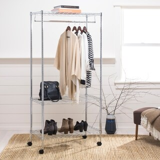 "happimess Jane 71"" 3-Tier Garment Rack, Chrome"