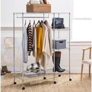 "happimess Eliza 59"" Adjustable Wardrobe Rack, Chrome"