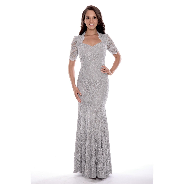 Decode 1.8 Women's 3/4 Sleeved Long Lace Dress (Size 4, S...