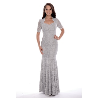 Women's 3/4 Sleeved Long Lace Dress