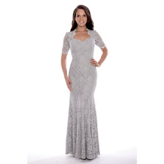 Women's 3/4 Sleeved Long Lace Dress (More options available)