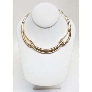Kenneth Jay Lane Polished Gold 3 Link Collar Necklace