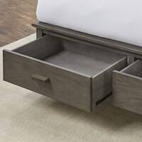 Leggett & Platt Hampton Wooden Storage Bed in Beachwood Grey Finish