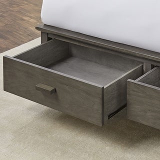 Fashion Bed Group Hampton Wooden Storage Bed in Beachwood Grey Finish