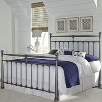 Fashion Bed Group Kensington Metal Bed in Vintage Silver Finish