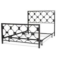 Fashion Bed Group Baxter Metal Bed in Heritage Silver Finish