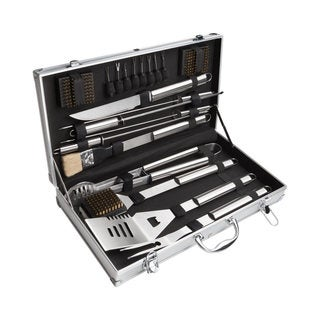 20 Piece Barbecue Tool Set with Aluminum Carrying Case