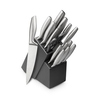 15 Piece High Carbon Hollow Handle Stainless Steel Knife Block Set