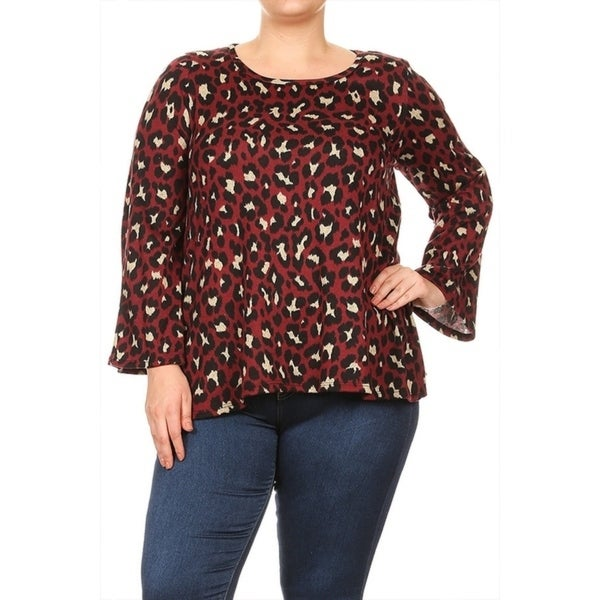 Women's Plus Size Cheetah Print Tunic