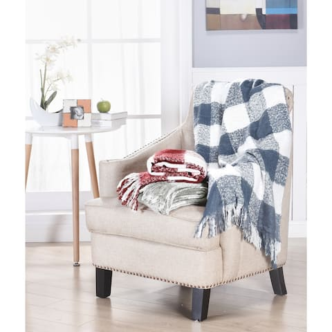 Brielle Gingham Plaid Woven Soft Luxury Throw