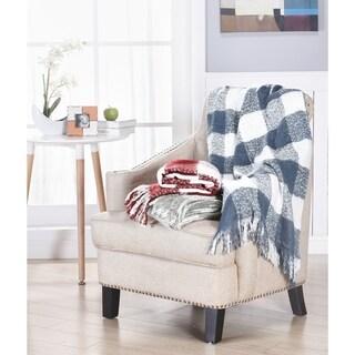 Brielle Gingham Plaid Woven Soft Luxury Throw