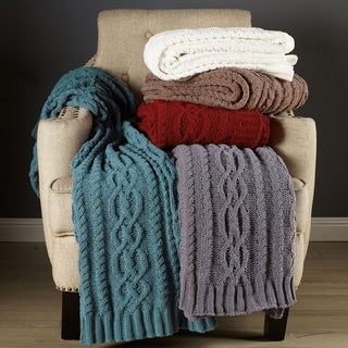 Brielle Chenille Braid Luxury Throw