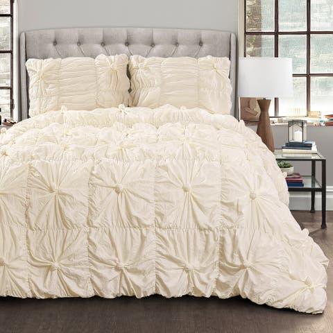 Lush Decor Bella Sabby Chic 3 Piece Comforter Set
