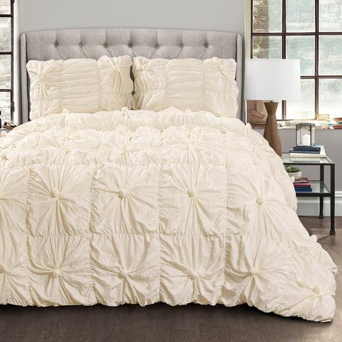 Lush Decor Bella Sabby Chic 3 Piece Comforter Set