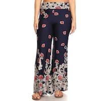 Women's Plus Size Pattern Wide Leg Flare Pants