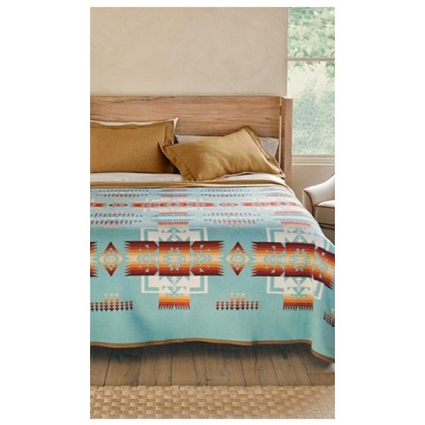 Pendleton Chief Joseph Aqua King Blanket by Pendleton