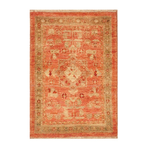 Handmade Herat Oriental Afghan Hand Knotted Vegetable Dye Wool Accent Rug 1 X27
