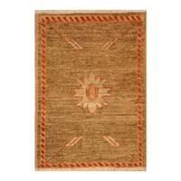 Handmade Herat Oriental Afghan Hand-knotted Vegetable Dye Wool Accent Rug (1'4 x 2') - 1'4 x 2'