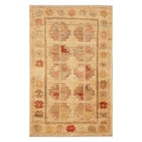 Handmade Herat Oriental Afghan Hand-knotted Vegetable Dye Wool Accent Rug (Afghanistan) - 1'3 x 2'