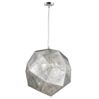 """Apex Collection 5 Light Chrome Finish Finish Stainless Steel Pendant D24"""" H24"""""""