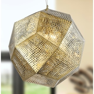 """Apex Collection 5 Light Champagne Finish Finish Stainless Steel Pendant D24"""" H24"""""""