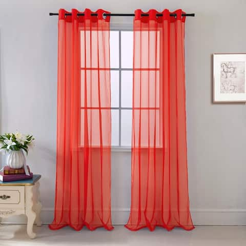 Cara Sheer Voile 54 x 84 in. Grommet Curtain Panel - 54 x 84 - 54 x 84
