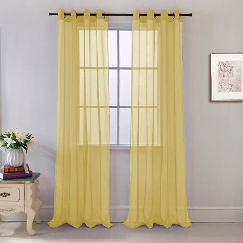 Cara Sheer Voile 54 x 84 in. Grommet Curtain Panel - 54 x 84