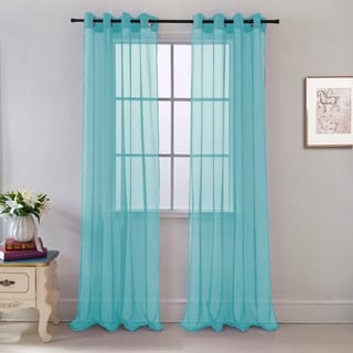 Cara Sheer Voile 54 x 84 in. Grommet Curtain Panel - 54 x 84