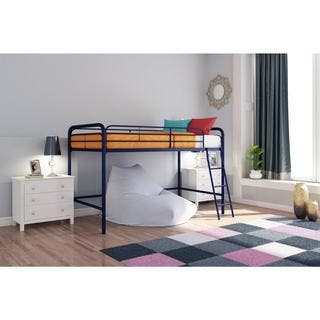 DHP Junior Metal Twin Loft Bed  Option  Blue. Blue Beds For Less   Overstock com