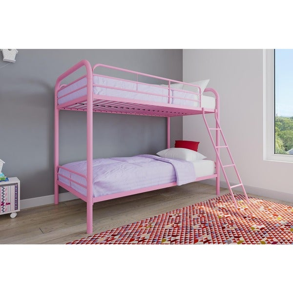 Shop Edison Twin Over Twin Metal Bunk Bed Free Shipping Today