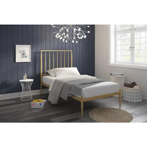 The Curated Nomad Hillard Modern Metal Bed