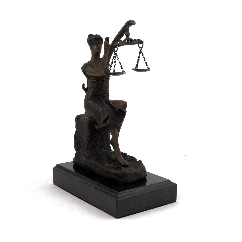 Bey Berk Bronze Victorious Lady Justice Sculpture on Marb...