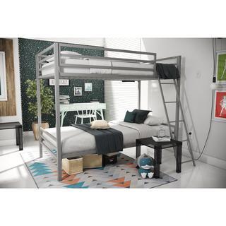 Novogratz Maxwell Grey Metal Bunk Bed