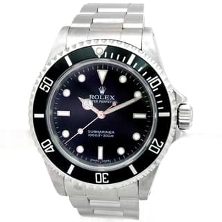 Pre-owned 40mm Rolex Stainless Steel Oyster Perpetual Submariner No Date Watch with Black Dial|https://ak1.ostkcdn.com/images/products/18091278/P24249801.jpg?impolicy=medium