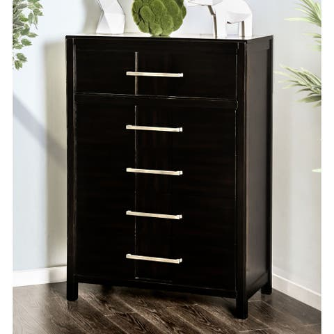 Furniture of America Tass Contemporary Solid Wood 5-drawer Chest