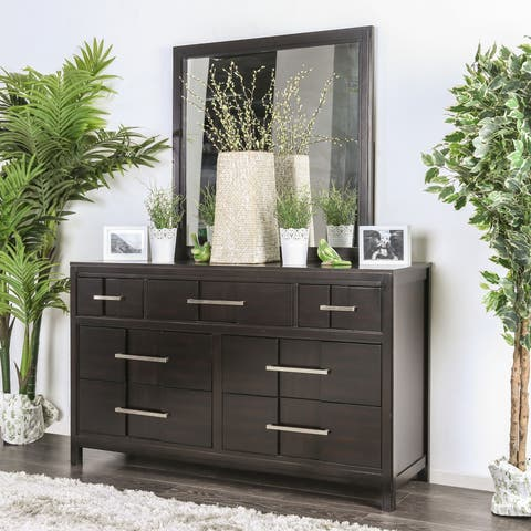 Telke Contemporary 2-piece Dresser and Mirror Set by FOA