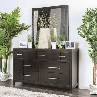 Furniture of America Telke Contemporary 2-piece Dresser and Mirror Set