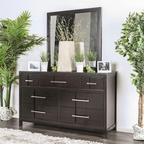 Furniture of America Tass Contemporary 2-piece Dresser and Mirror Set