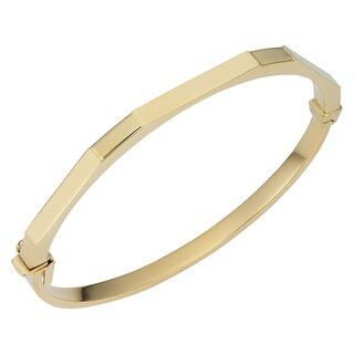 Fremada 14k Yellow Gold 4.1 millimeters Geometric Bangle Bracelet (7.75 inches)