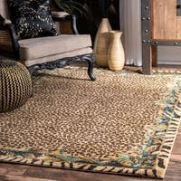 nuLOOM Contemporary Tribal Jungle Leopard Skin Beige Rug (5' x 7'5) - 5' x 7'5""