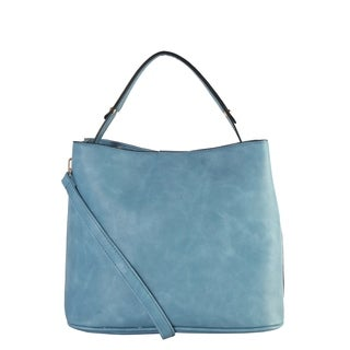 Diophy Multi Spaced Large Hobo with Sloped Zipper Pocket