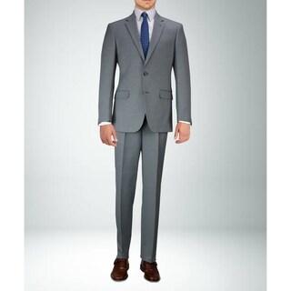 Carlo Studio Grey on Black Textured Suit