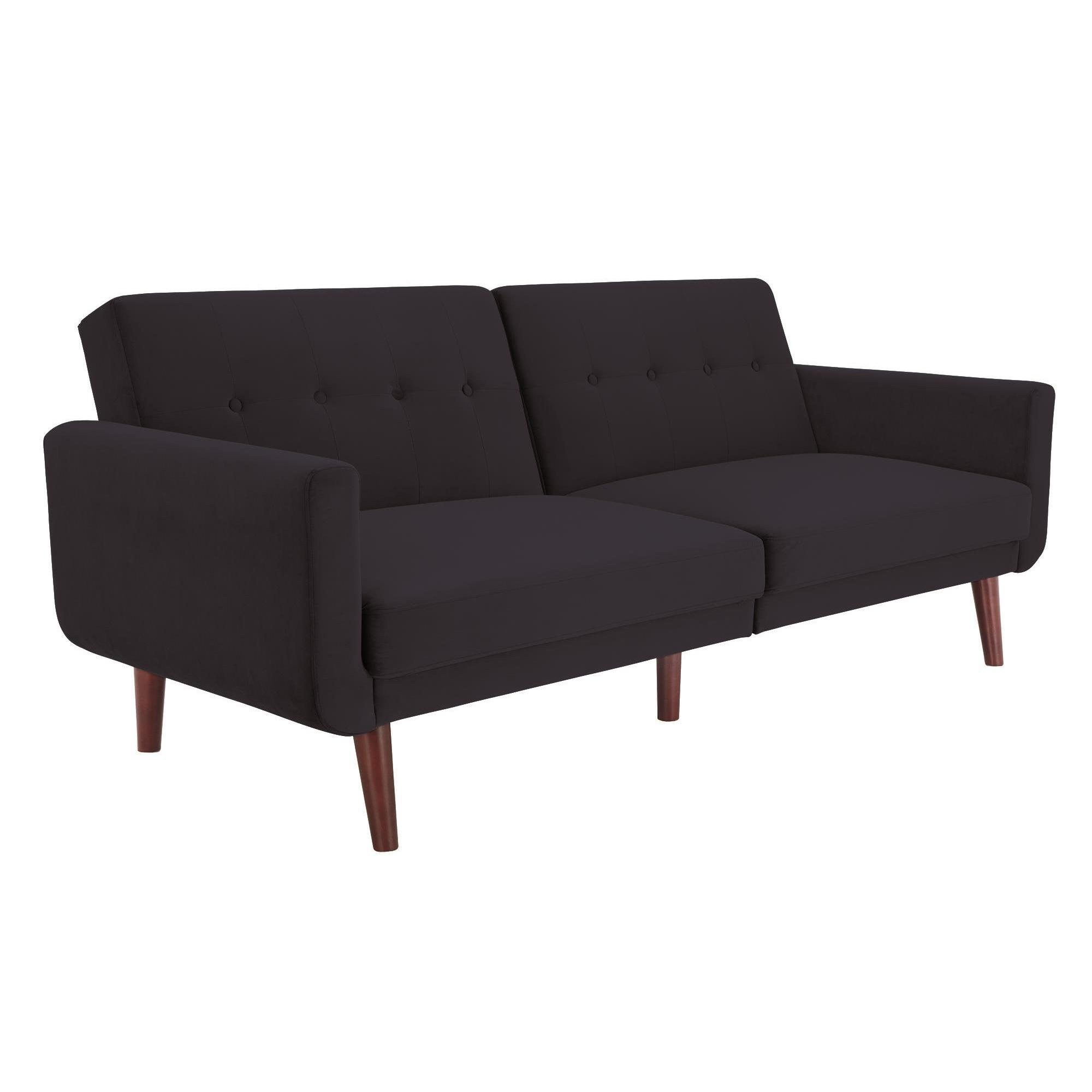 Avenue Greene Fania Blue Modern Velvet Futon (2 Options Available)